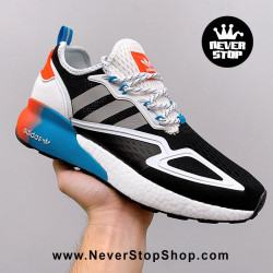 Adidas ZX 2K Boost Black Blue Orange