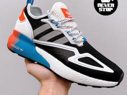 Giày thể thao Adidas ZX 2K Boost Xanh Cam Đen nam nữ hàng chuẩn sfake replica 1:1 real chính hãng giá rẻ tốt nhất tại NeverStopShop.com HCM