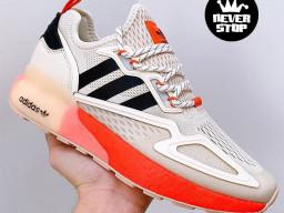 Giày thể thao Adidas ZX 2K Boost Cam Kem nam nữ hàng chuẩn sfake replica 1:1 real chính hãng giá rẻ tốt nhất tại NeverStopShop.com HCM