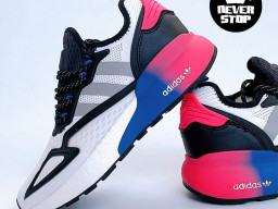 Giày thể thao Adidas ZX 2K Boost Trắng Xanh Tím nam nữ hàng chuẩn sfake replica 1:1 real chính hãng giá rẻ tốt nhất tại NeverStopShop.com HCM