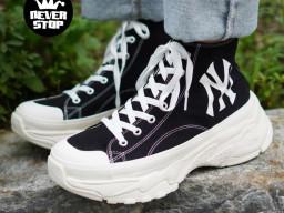 Giày MLB Yankees Chunky High đen cổ cao Korea nam nữ hàng chuẩn sfake replica 1:1 real chính hãng giá rẻ tốt nhất tại NeverStopShop.com HCM