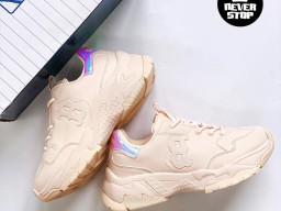 Giày MLB Big Ball Chunky Yankees B Pink Hologram Korea nam nữ hàng chuẩn sfake replica 1:1 real chính hãng giá rẻ tốt nhất tại NeverStopShop.com HCM
