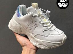 Giày MLB Big Ball Chunky Yankees White Hologram Korea nam nữ hàng chuẩn sfake replica 1:1 real chính hãng giá rẻ tốt nhất tại NeverStopShop.com HCM