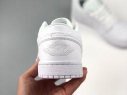 Giày Nike Jordan 1 Low All White nam nữ hàng chuẩn sfake replica 1:1 real chính hãng giá rẻ tốt nhất tại NeverStopShop.com HCM