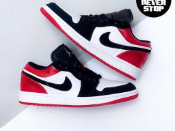 Giày Nike Jordan 1 Low Black Toe nam nữ hàng chuẩn sfake replica 1:1 real chính hãng giá rẻ tốt nhất tại NeverStopShop.com HCM