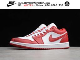 Giày Nike Jordan 1 Low Red White nam nữ hàng chuẩn sfake replica 1:1 real chính hãng giá rẻ tốt nhất tại NeverStopShop.com HCM