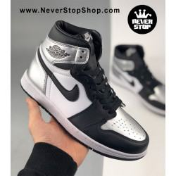 Nike Jordan 1 High Black Silver