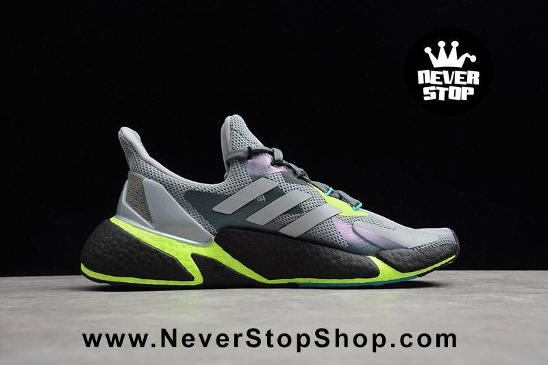 Giày Adidas X9000L4 Boost Xám Xanh Neon mẫu mới full size nam nữ cổ thấp hàng sfake replica giá rẻ HCM