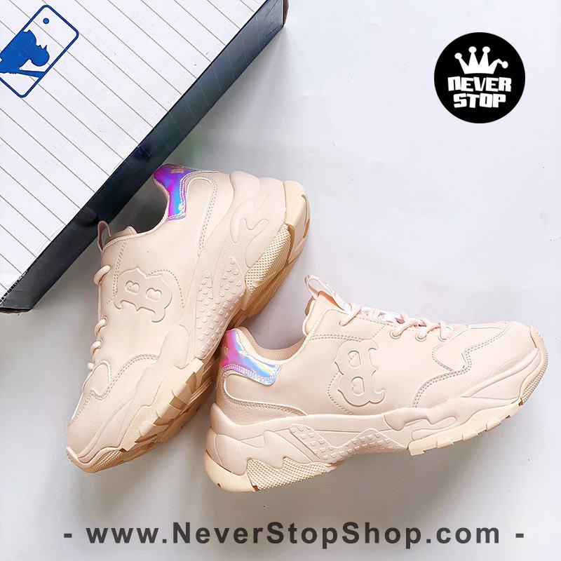 Giày MLB Big Ball Chunky Yankees B Pink Hologram hàn quốc nam nữ sfake replica chính hãng giá rẻ HCM