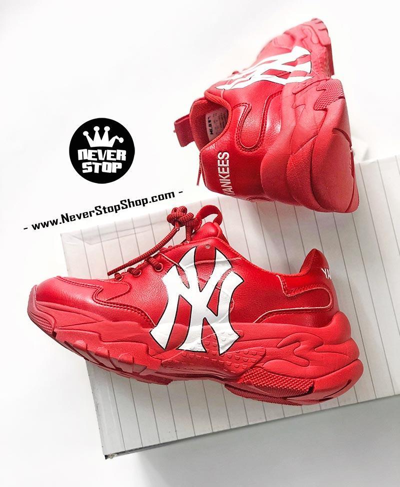Giày chữ NY đỏ MLB Yankees korea hàn quốc nam nữ sfake replica chính hãng giá rẻ HCM