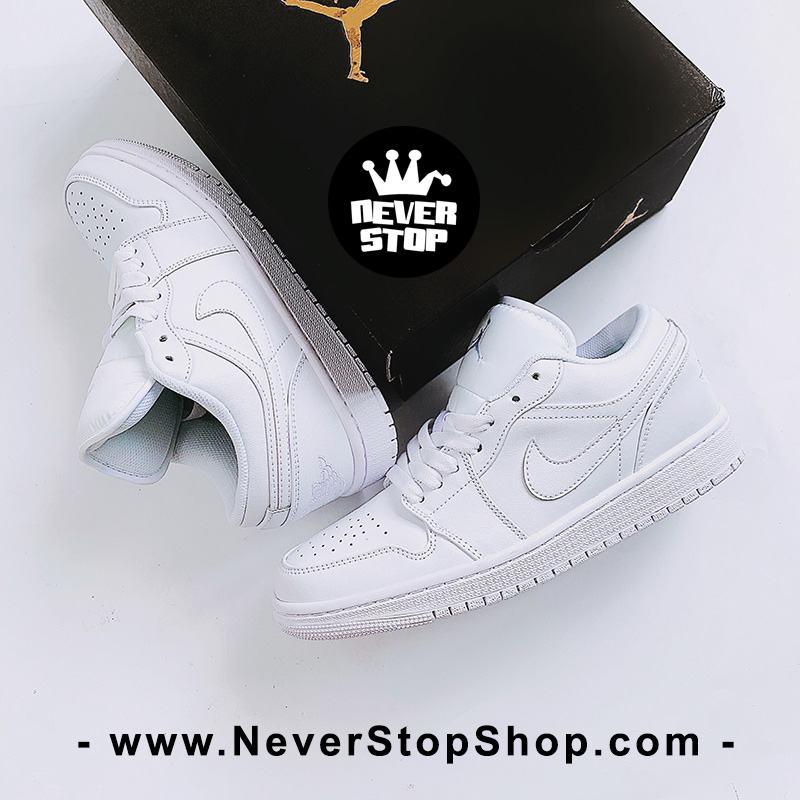 Giày bóng rổ NIKE AIR JORDAN 1 LOW ALL WHITE nam nữ hàng đẹp chuẩn sfake replica giá rẻ tốt nhất HCM