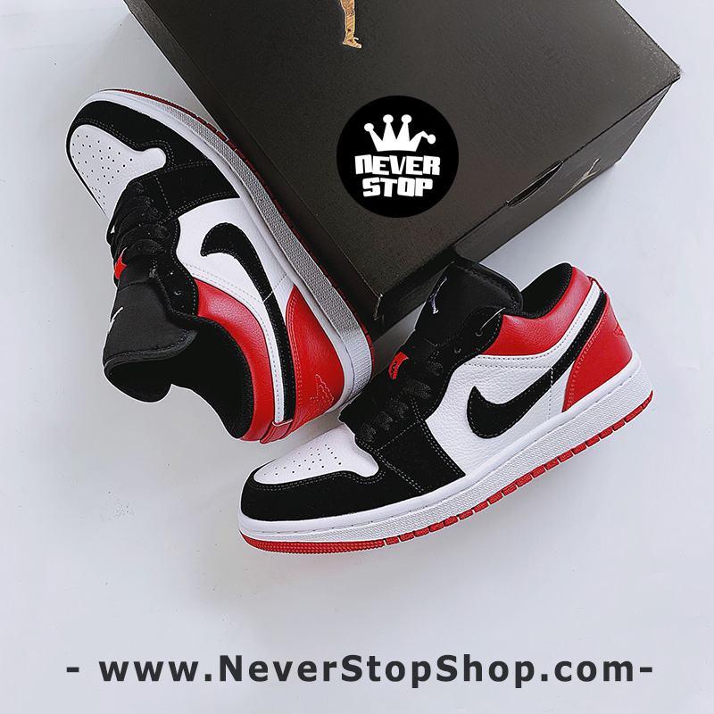 Giày bóng rổ NIKE AIR JORDAN 1 LOW BLACK TOE nam nữ hàng đẹp chuẩn sfake replica giá rẻ tốt nhất HCM