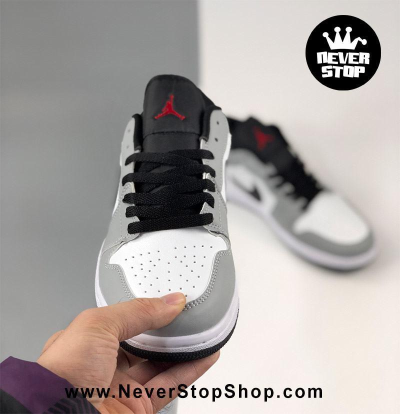 Giày bóng rổ NIKE AIR JORDAN 1 LOW XÁM TRẮNG nam nữ hàng đẹp chuẩn sfake replica giá rẻ tốt nhất HCM
