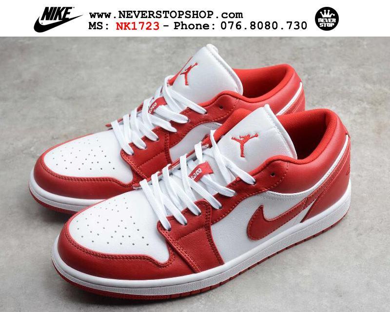 Giày bóng rổ NIKE AIR JORDAN 1 LOW RED WHITE nam nữ hàng đẹp chuẩn sfake replica giá rẻ tốt nhất HCM