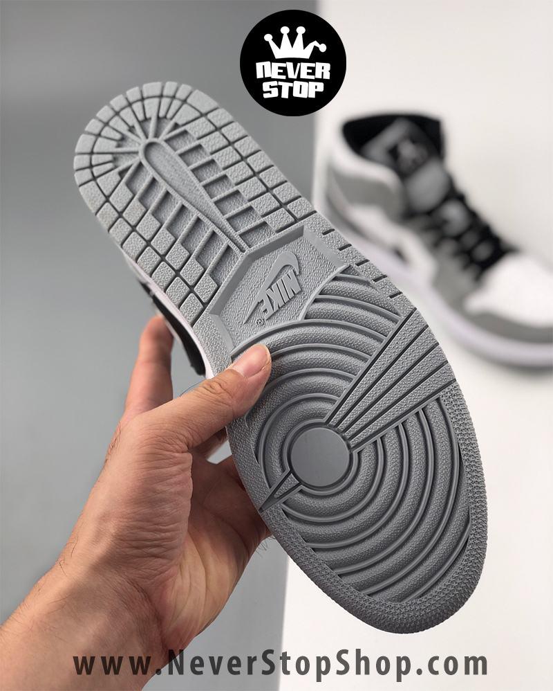 Giày bóng rổ NIKE AIR JORDAN 1 xám trắng nam nữ hàng đẹp chuẩn sfake replica giá rẻ tốt nhất HCM
