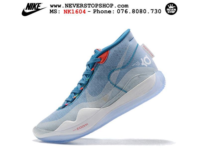 Giày bóng rổ NIKE KD 12 White Blue hàng đẹp chuẩn sfake replica giá rẻ tốt nhất HCM