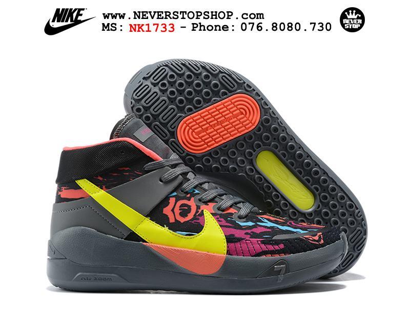 Giày bóng rổ NIKE KD 13 Black Grey Yellow hàng đẹp chuẩn sfake replica giá rẻ tốt nhất HCM