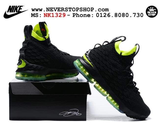 outlet store d17d5 4c663 Nike Lebron 15 Black Volt (NK1329) - NeverStopShop.Com