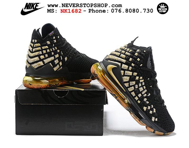 Giày bóng rổ NIKE LEBRON 17 BLACK GOLD hàng đẹp chuẩn sfake replica giá rẻ tốt nhất HCM
