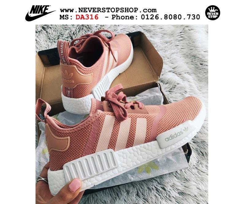 Giày Adidas NMD R1 Raw Pink hồng nữ sfake replica giá rẻ HCM