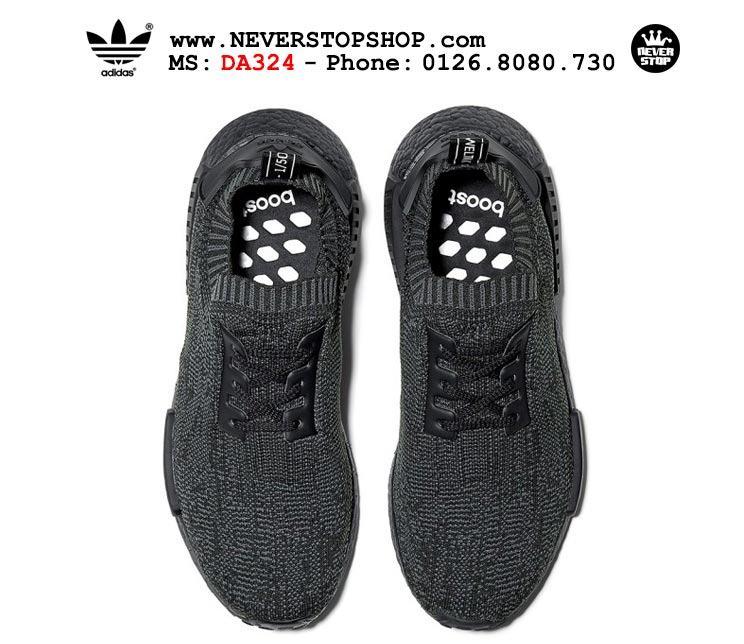 Giày thể thao Adidas NMD R1 Primeknit Pitch Black chất lượng cao chuẩn sfake, replica giá rẻ HCM