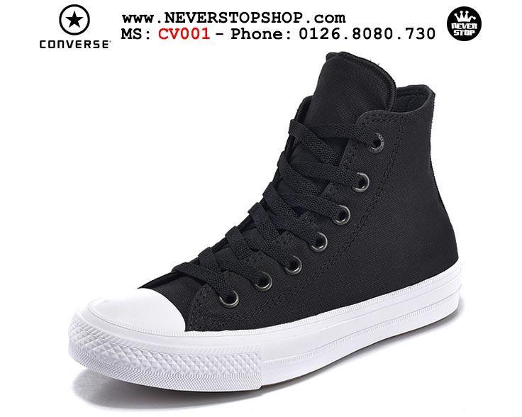 Giày Converse Chuck Taylor 2 cổ cao đen hàng đẹp giá tốt nhất