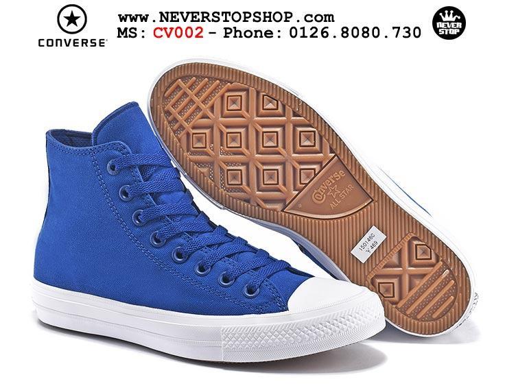 Giày Converse Chuck Taylor 2 cổ cao xanh hàng đẹp giá tốt nhất