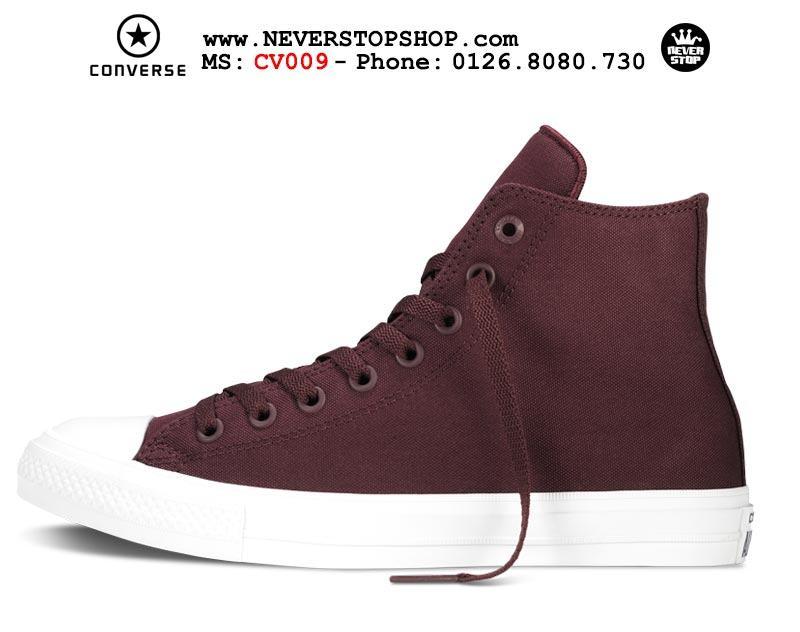 Giày Converse Chuck Taylor 2 cổ cao đỏ đô hàng đẹp giá tốt nhất
