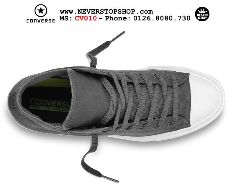 Giày Converse Chuck Taylor 2 cổ cao xám hàng đẹp giá tốt nhất