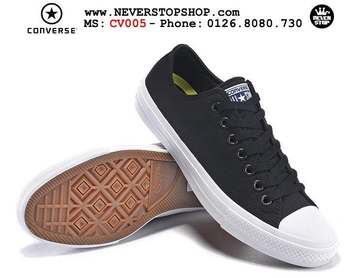 Giày Converse Chuck Taylor 2 cổ thấp đen hàng đẹp giá tốt nhất
