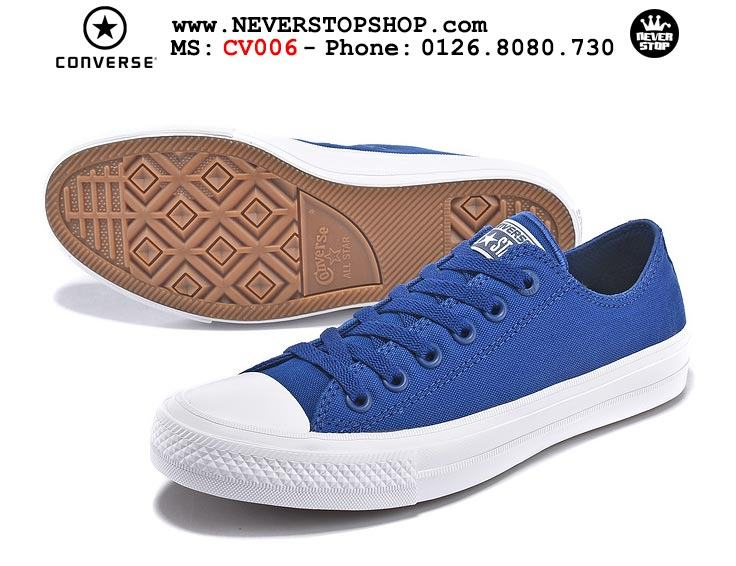 Giày Converse Chuck Taylor 2 cổ thấp xanh hàng đẹp giá tốt nhất