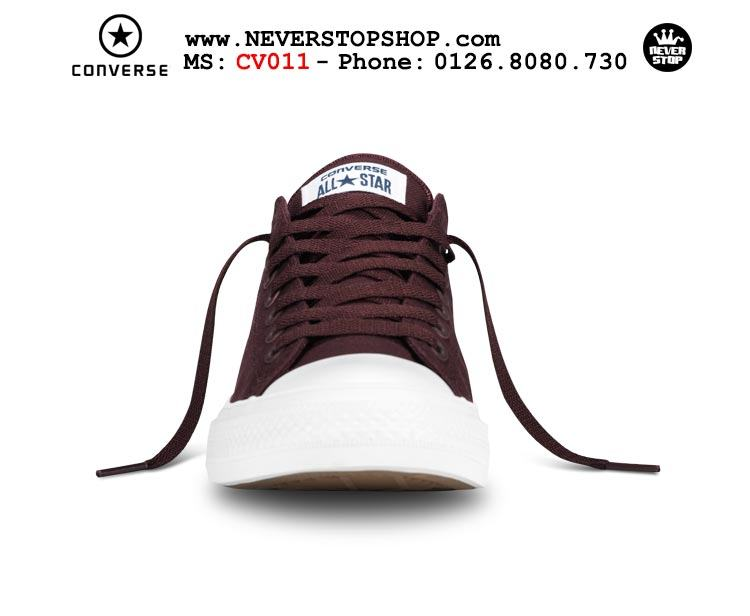 Giày Converse Chuck Taylor 2 cổ thấp đỏ đô hàng đẹp giá tốt nhất