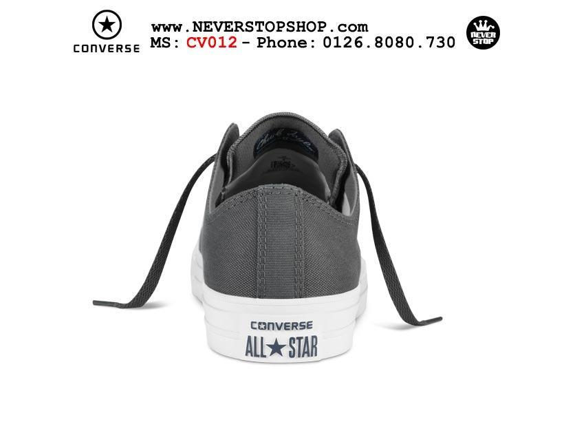 Giày Converse Chuck Taylor 2 cổ thấp xám hàng đẹp giá tốt nhất