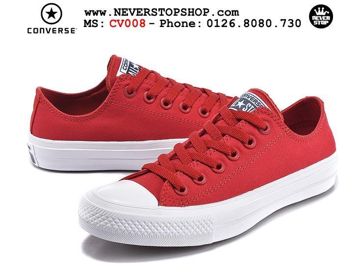 Giày Converse Chuck Taylor 2 cổ thấp đỏ hàng đẹp giá tốt nhất