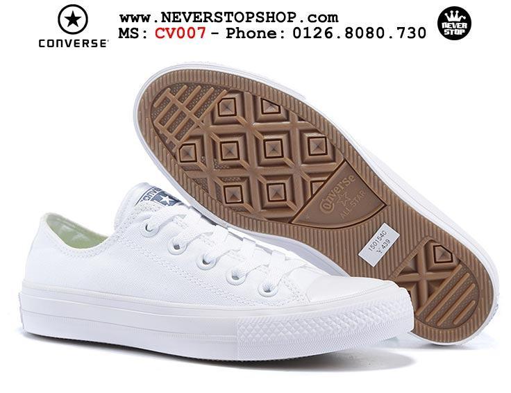 Giày Converse Chuck Taylor 2 cổ thấp trắng hàng đẹp giá tốt nhất