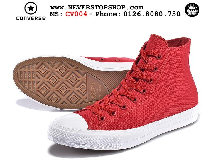 Giày Converse Chuck Taylor 2 cổ cao đỏ hàng đẹp giá tốt nhất