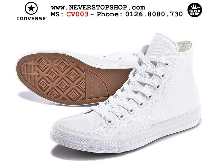 Giày Converse Chuck Taylor 2 cổ cao trắng hàng đẹp giá tốt nhất