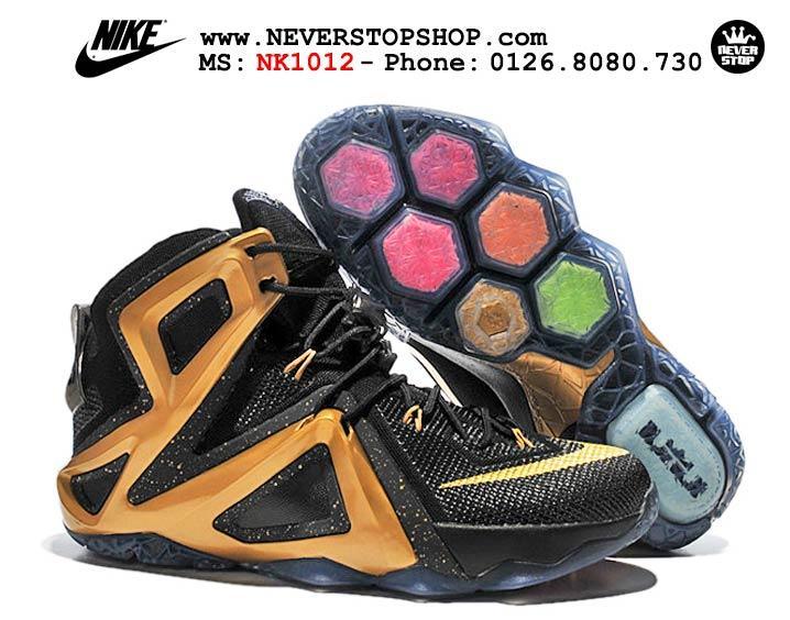 Giày bóng rổ Nike Lebron 12 Elite Black Gold hàng đẹp giá rẻ nhất thị trường