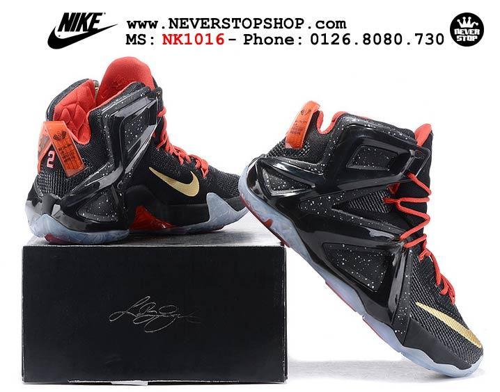 Giày bóng rổ Nike Lebron 12 Elite Black hàng đẹp giá rẻ nhất thị trường