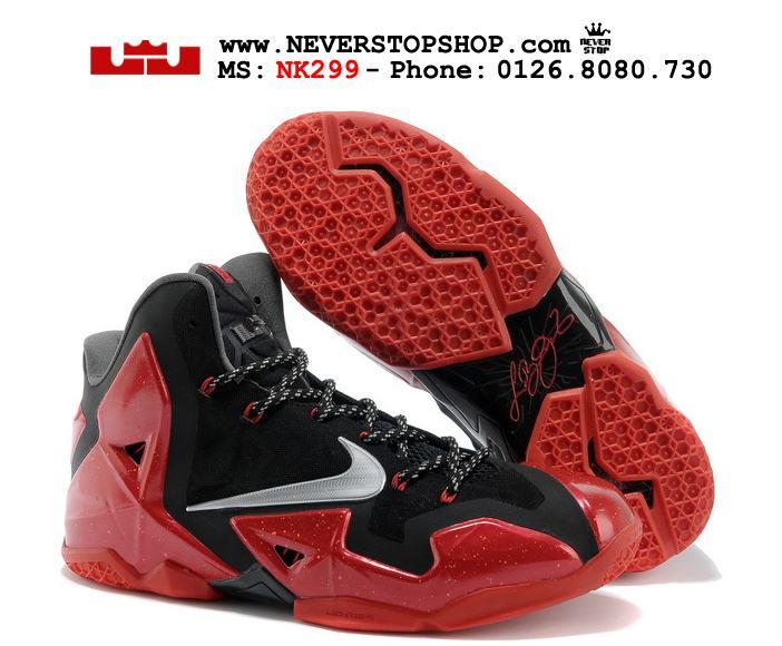 Giày NIKE LEBRON 11 MIAMI HEAT thể thao bóng rổ cực chất, hàng chuẩn super fake giá rẻ HCM