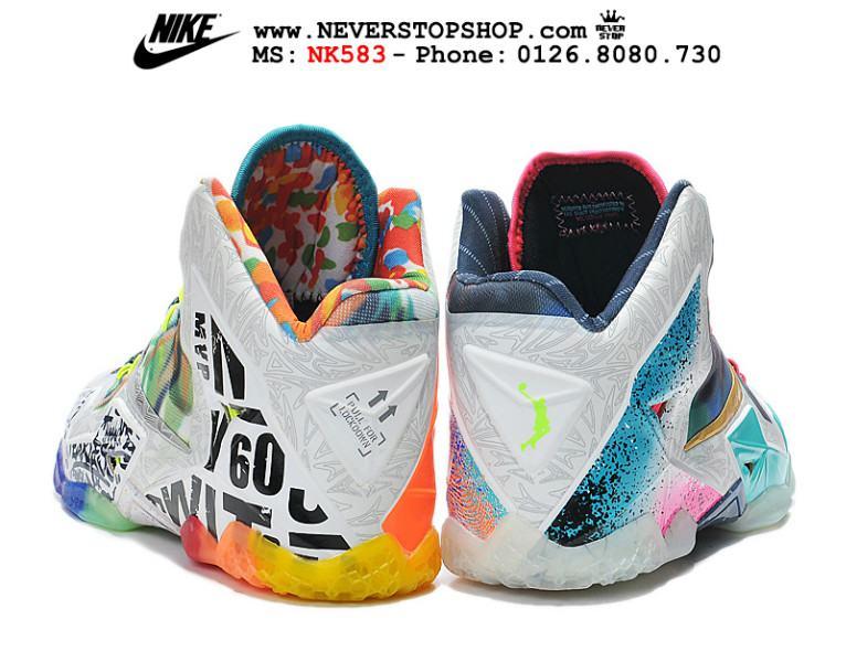 Giày NIKE LEBRON 11 WHAT THE LEBRON chuyên bóng rổ, thể thao cho dân chuyên nghiệp, hàng super fake