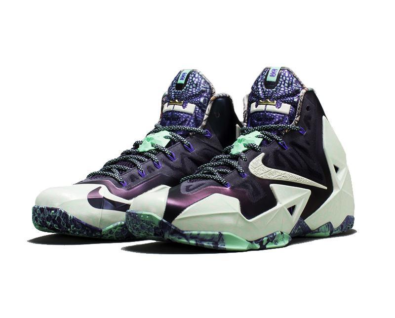 Giày bóng rổ Nike Lebron 11 Gator King dạ quang phát sáng trong đem cực chất