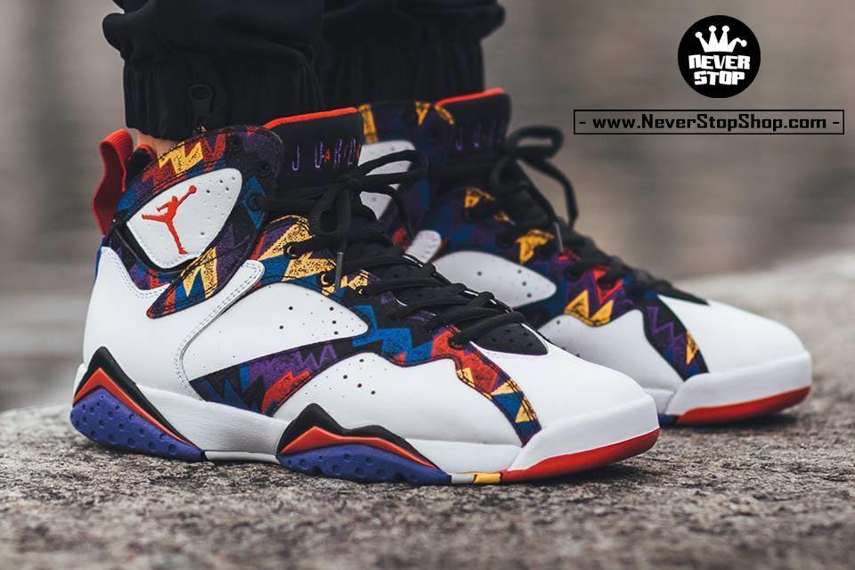 Giày bóng rổ Nike Jordan 7 Nothing But Net chất lượng cao chuẩn sfake, giá rẻ HCM