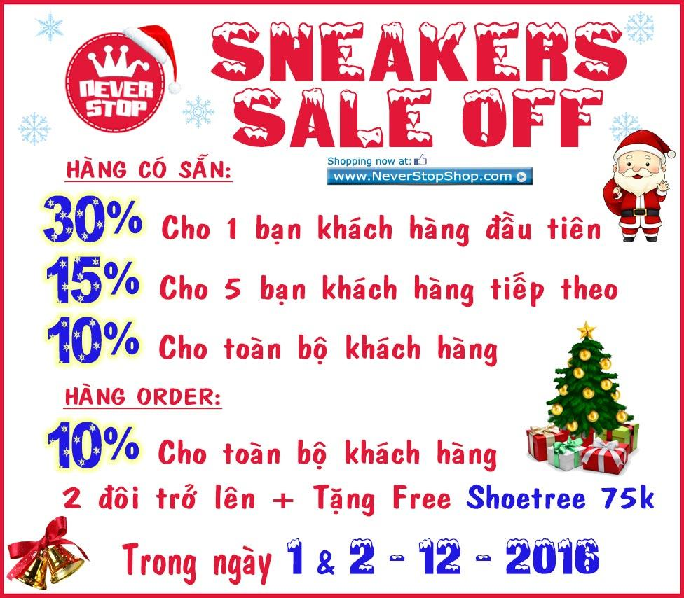 Giày khuyến mãi Sneakers Sale Off 2016